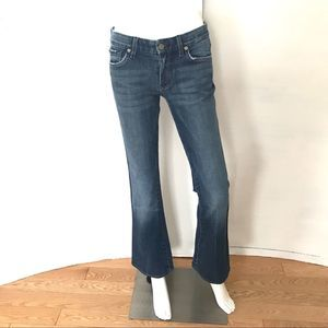 7 For All Mankind A Pocket Flare Jeans Medium Wash